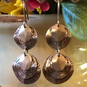 Silpada Sterling Hand-Engraved Cha-Cha Earrings